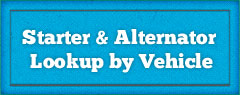 Alternator and Startup Lookup by Vehicle